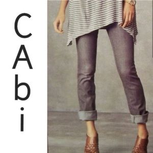 CAbi Lou Lou Gray Jeans #332 Straight size 0